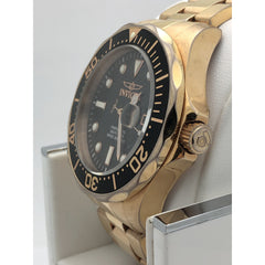 Invicta Men's Black Dial Rose Gold Tone Stainless Steel Bracelet Watch 14541
