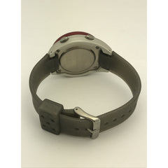 Pulsar Spoon Unisex Stainless Steel Gray Silicone Band Digital Watch PZX 019S