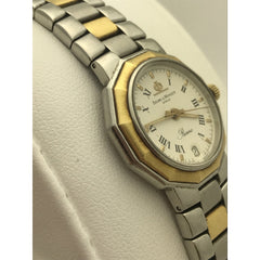 Baume & Mercier Ladies Riviera White Dial Two Tone Stainless Steel Watch 195198