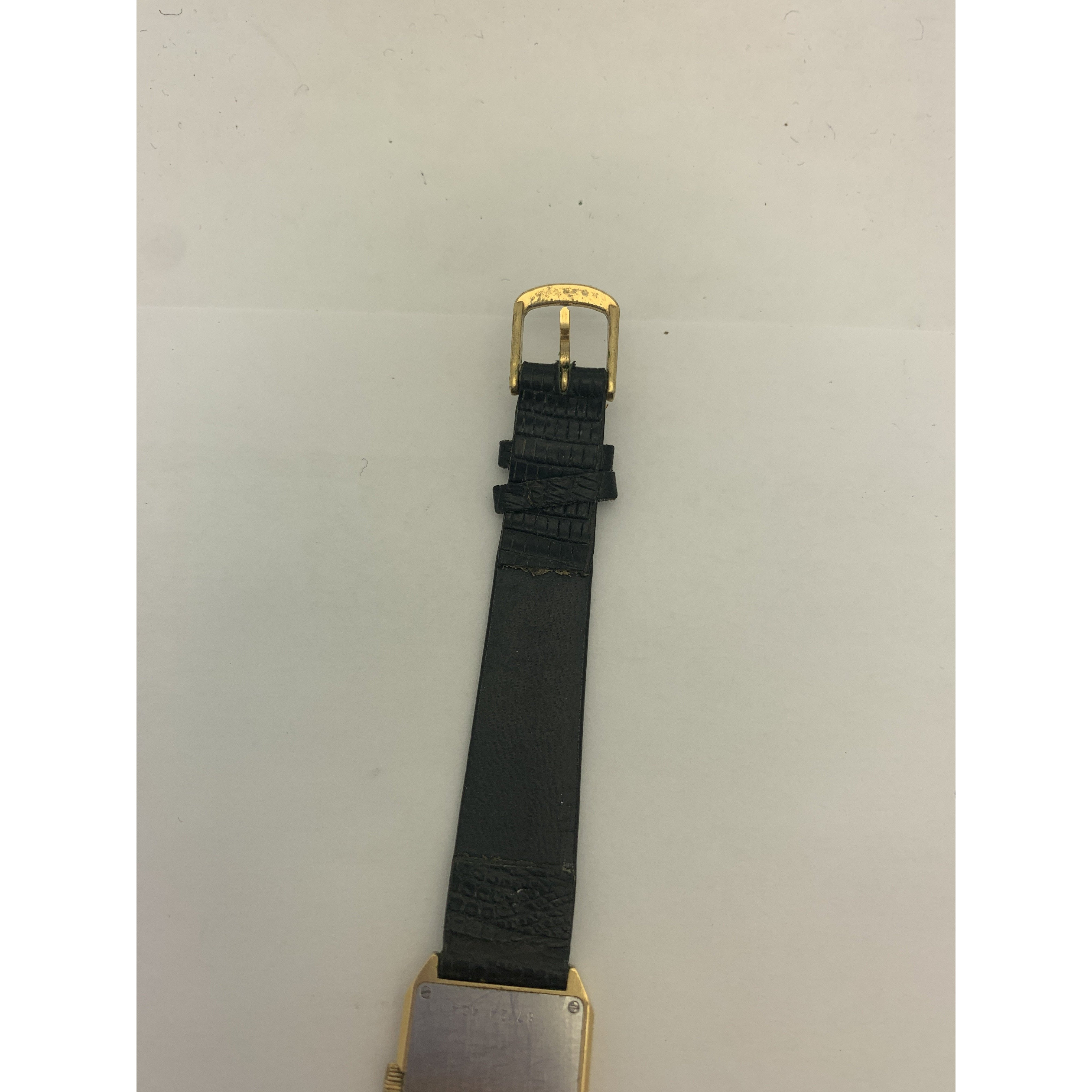 Movado Ladies Gold Tone Dial Black Leather Strap Watch 87 24 434