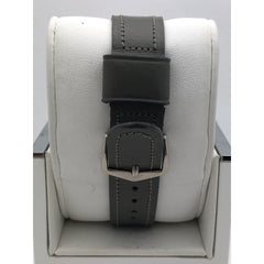 Walkman Light Gray Dial Gray Leather Racing Royal Strap Men's Watch