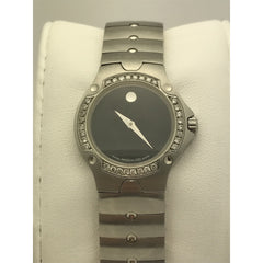 Movado Ladies SE Sports Edition Black Museum Dial Stainless Steel Watch 4252508