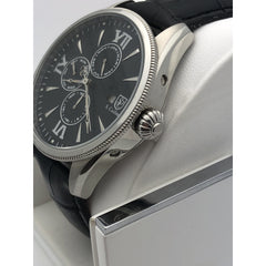 S. Coifman By Invicta Men's Silver Stainless Steel Case Black Dial Watch SC016