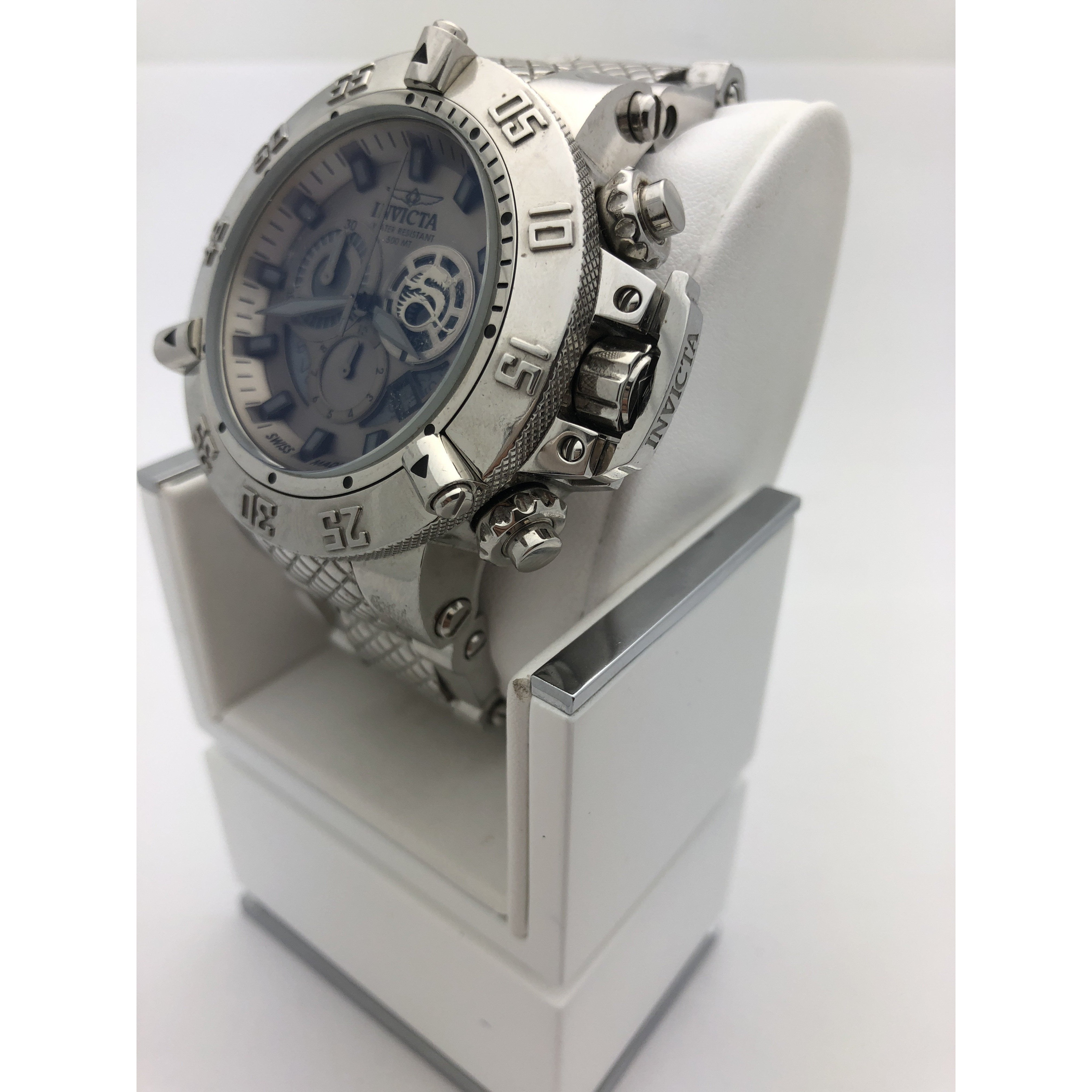 Invicta Men's Chronograph Grey Dial Silver Tone Stainless Steel Watch 11590