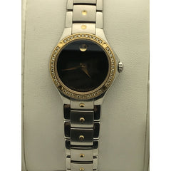Movado Ladies SE Diamond Sports Edition Black Museum Dial Watch 0605981