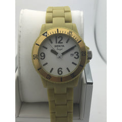 Invicta Ladies Date Indicator White Dial Stainless Steel Case Watch 1214