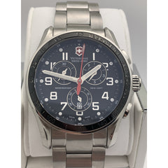 Victorinox Swiss Army Tachymeter Black Dial Stainless Steel Watch 241443