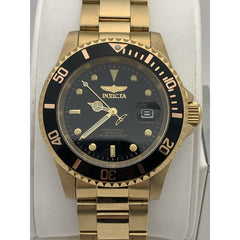 Invicta Men's Black Dial Gold Tone Stainless Steel Watch 26975