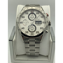 Tag Heuer Men's Silver Dial Carrera Automatic Stainless Steel Watch CV2A11