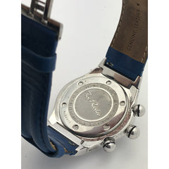 Joe Rodeo Men's Stainless Steel Leather Blue Band Watch RJ00470