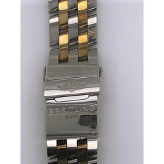 Breitling Two Tone Stainless Steel Strap Deployment Buckle 19-18mm 340D