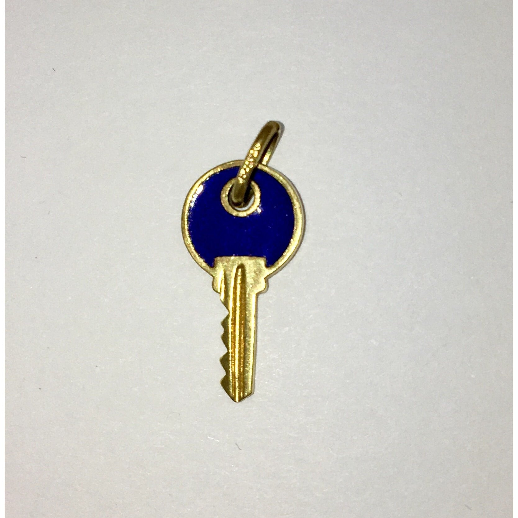 CHARJ011 14K Yellow Gold Reversible Multi-Colored Key Charm