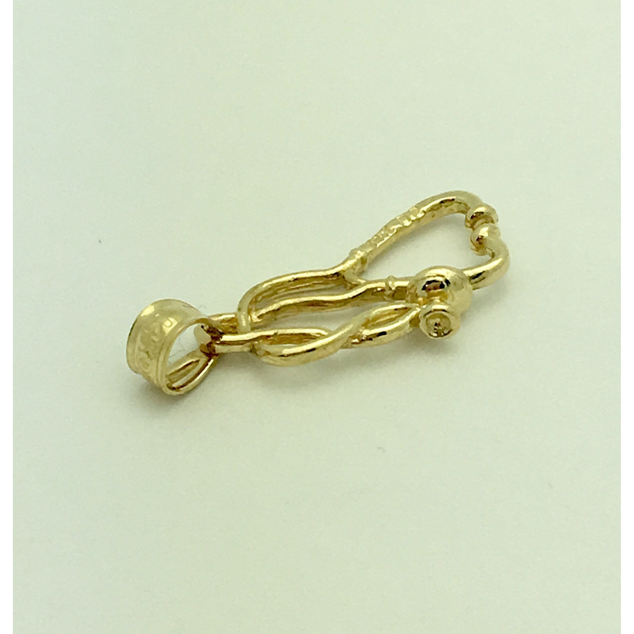 CHARJ014 14K Yellow Gold Stethoscope