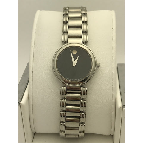 6a9e86f3a Movado Ladies Black Museum Dial Stainless Steel Watch 0605016. Movado  Ladies Black Museum Dial Stainless Steel Watch 0605016 · ELI ADAMS JEWELERS