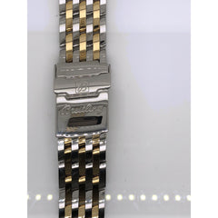 Breitling Two Tone Stainless Steel Strap Deployment Buckle 22-18mm 431D