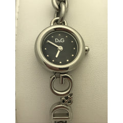 Dolce & Gabbana Women's Brim Black Dial Stainless Steel Watch DW0531