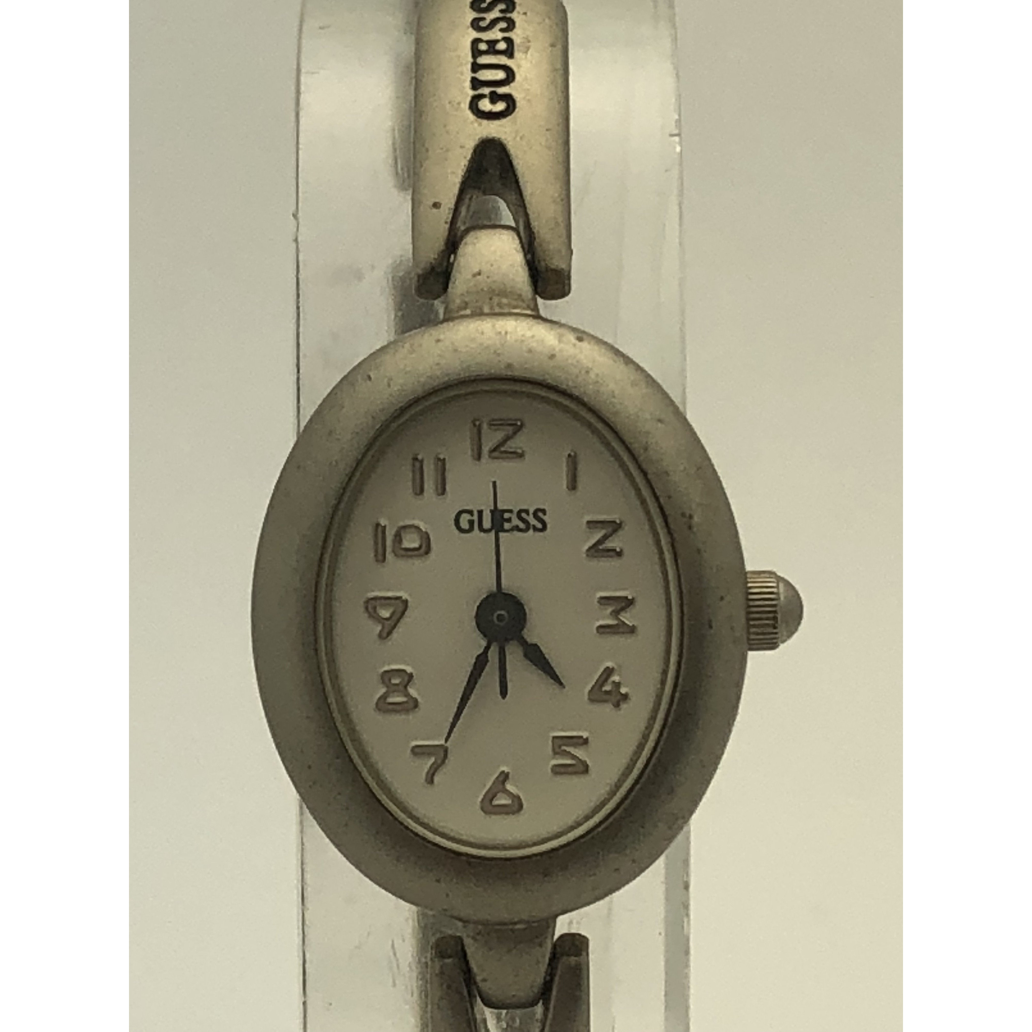 Guess Ladies Silver Case and Band Stainless Steel Back Watch