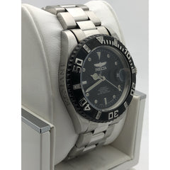 Invicta Men's Black Dial Silver Stainless Steel Bracelet Automatic Watch 4847