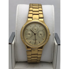 Citizen Men's Gold Tone Dial Gold Tone Base Metal Bracelet Watch 70701266