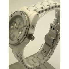 Invicta Women's Ceramics Collection Date and Day White Ceramic Watch 0296