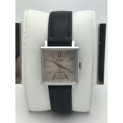 Raise Unisex 17 Jewels Antimagnetic Silver Dial Black Leather Band Watch 2244