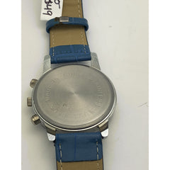 Shshd Ladies Blue Dial Stainless Steel Case Blue Leather Band Watch 4039