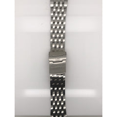 Breitling Silver Stainless Steel Strap Deployment Buckle 22-18 mm 740A
