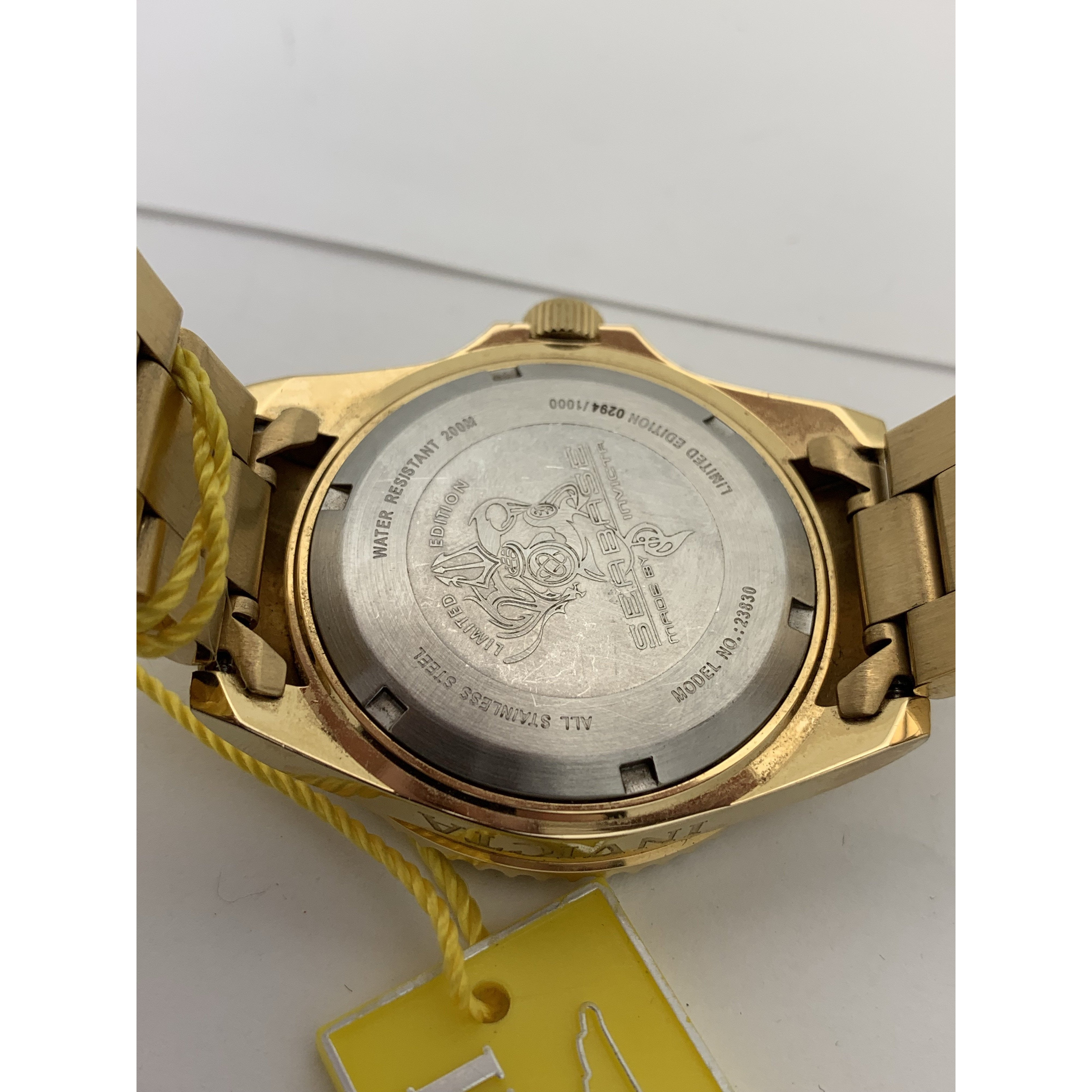 Invicta Ladies White MOP Dial Gold Tone Stainless Steel Watch 23830