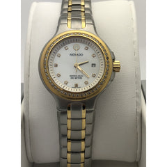Movado Ladies Series 800 White Mother of Pearl Watch Dial 9656524