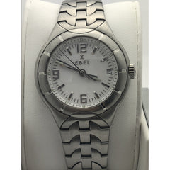 Ebel Men's White Dial Stainless Steel Date Indicator Watch 29505198