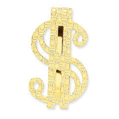 14k Polished Dollar Sign Money Clip