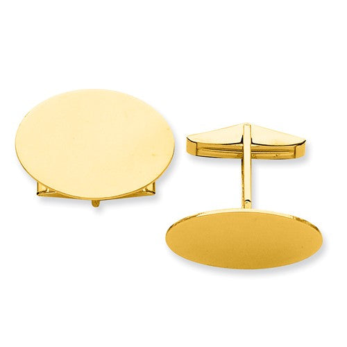 CLQGMC249 14K Oval Cuff Links