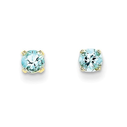 EARBBQGXBE51 14k 4mm March/Aquamarine Post Earrings
