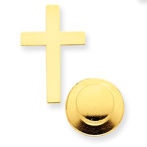 TTQGXR462 14k Polished Cross Tie Tac
