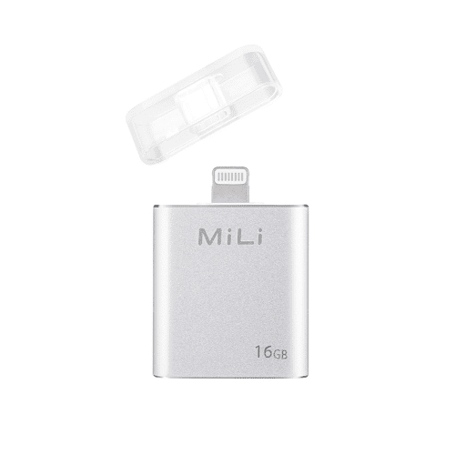 MiLi iData External Storage for Apple Lightning Devices - 16/32 GB Silver