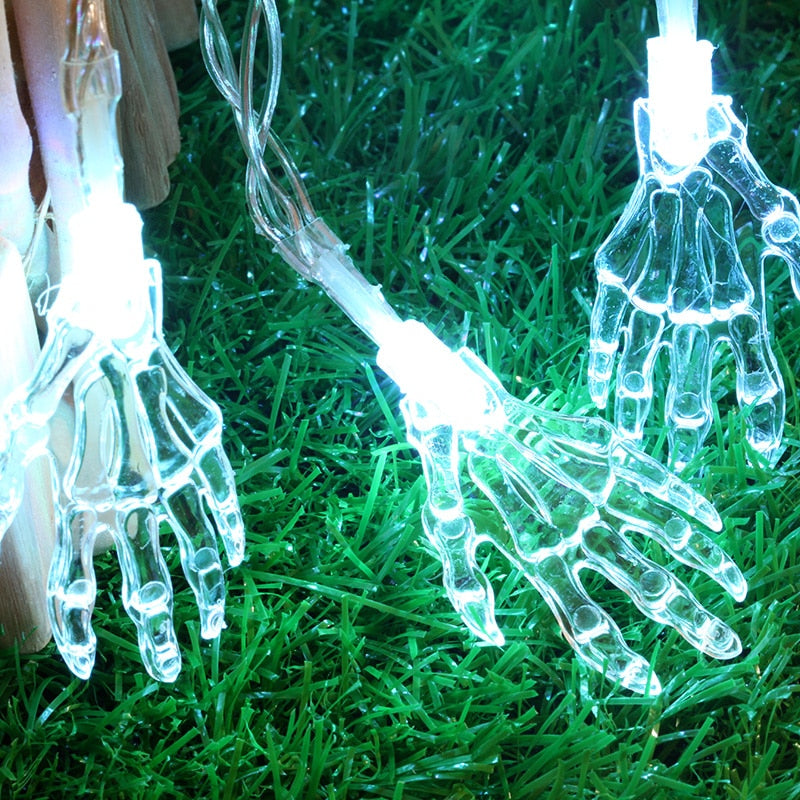Halloween Skeleton Hands LED String Lights | Novel Buys