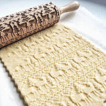 Christmas Embossing Rolling Pin - Novel Buys