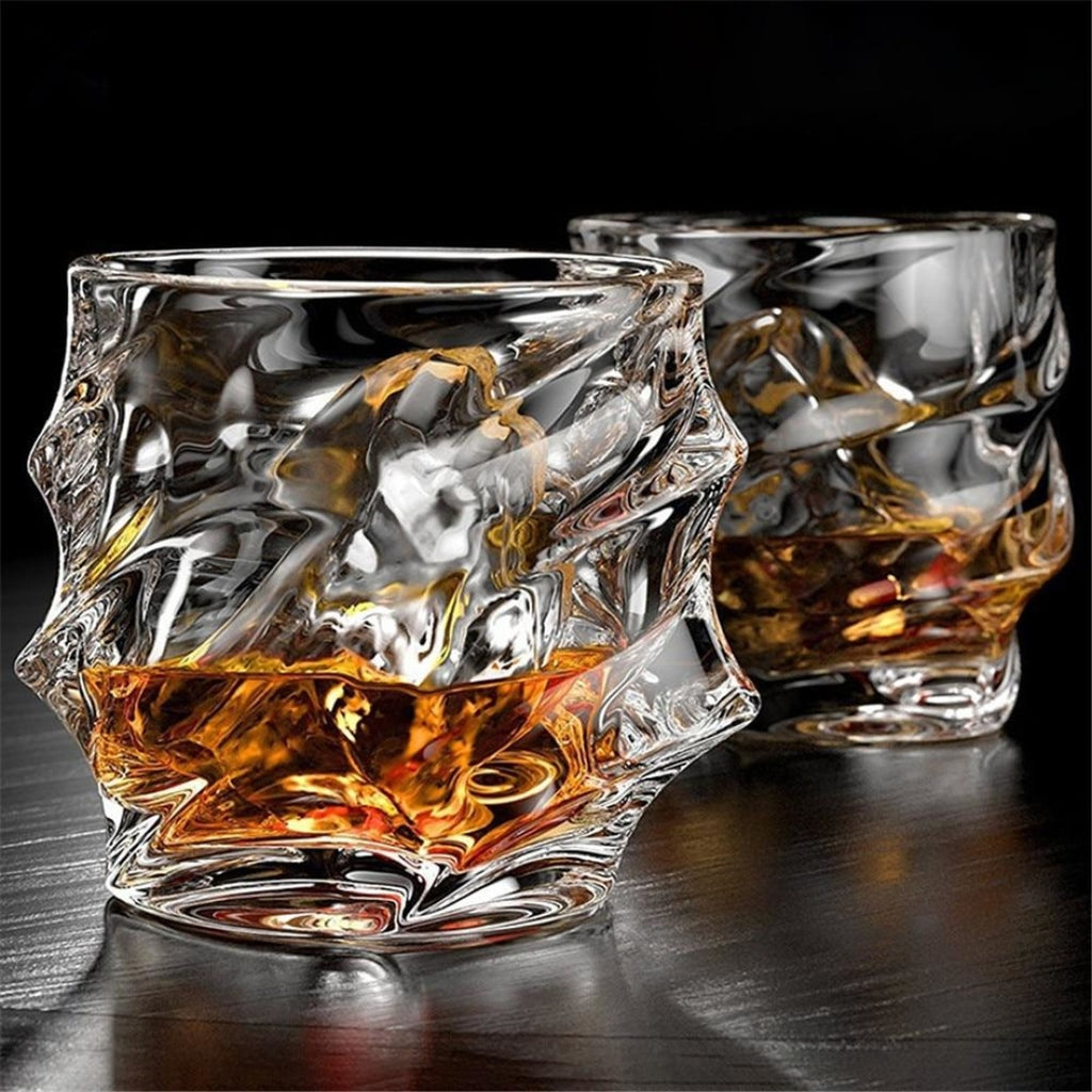 Crystal Twisty Whiskey Tumblers (2 pcs) - Novel Buys