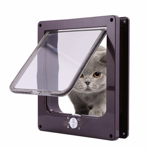 4-Way Lockable Cat Door Flap