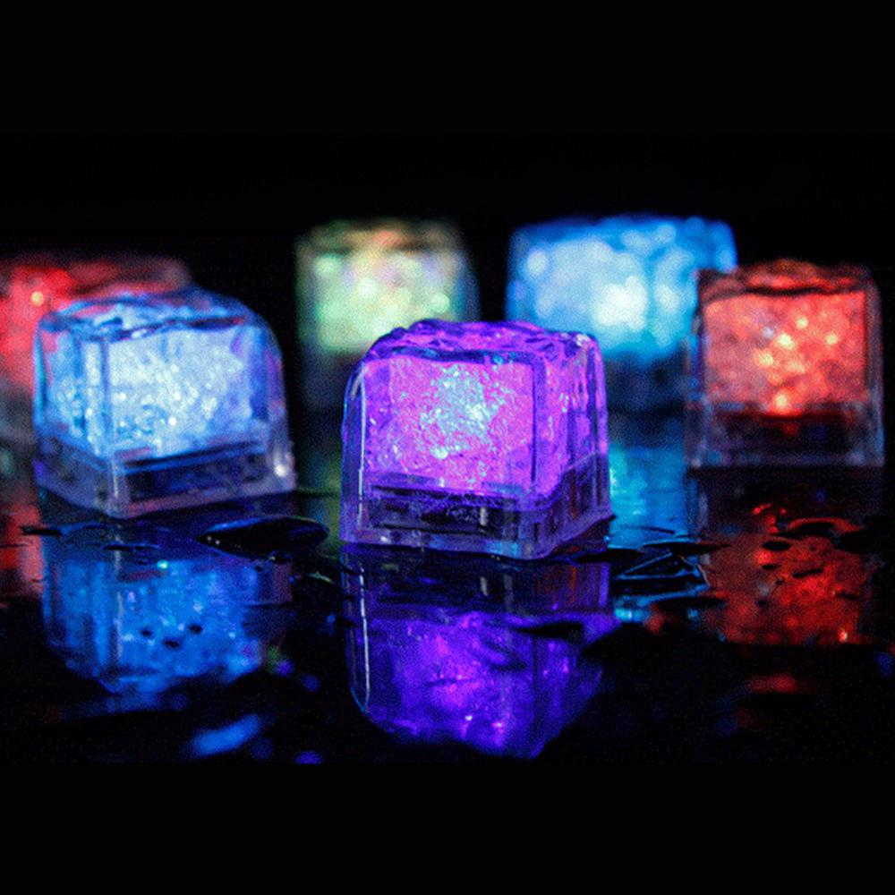 12pcs LED Glowing Light Up Ice Cubes