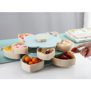 Rotating Flower Shaped Food Storage Tray - Novel Buys
