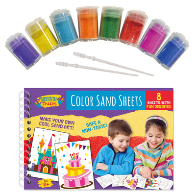 8 Sheets Color Sand Art Painting Kit