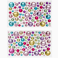 6 Sheets Self Adhesive Jewels