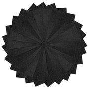 25 Pack Self Adhesive Black Crafting Felt Fabric