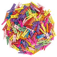 "250 Pcs 1"" Mini Colored Clothespins"