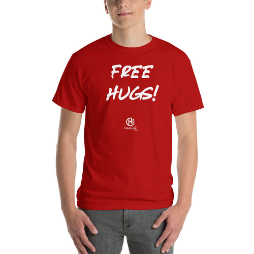 Men's Red Free Hugs Tee