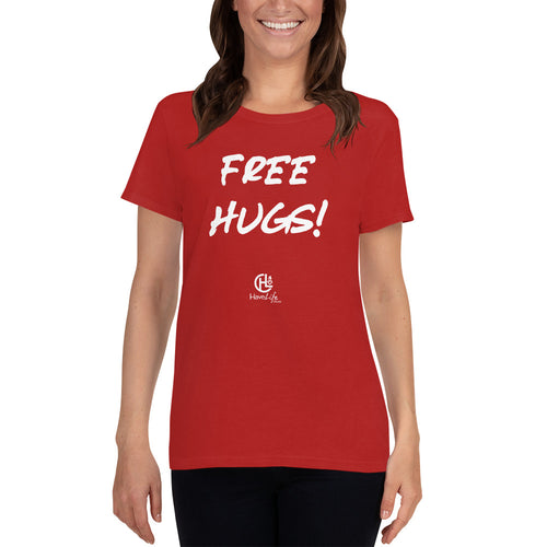 Women's Red Free Hugs Tee
