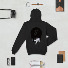 Load image into Gallery viewer, Covered Spaceman Black/Black Champion Hoodie