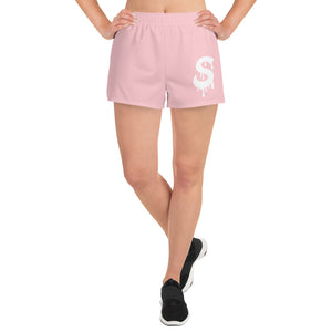 Women's Pink/White S Logo Short Shorts