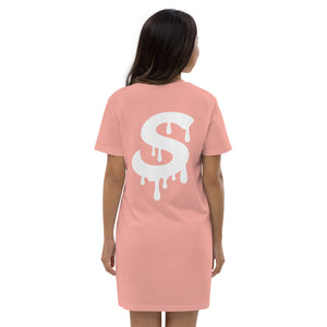 Organic cotton Drippy S t-shirt dress